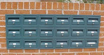 MCH No 1 Letter Boxes in Brick Wall